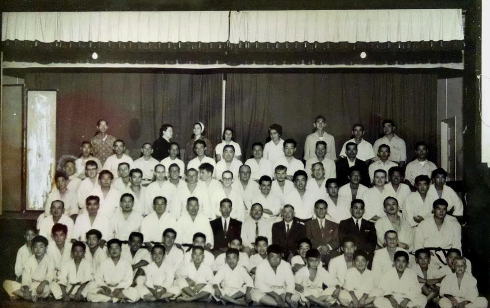 Historic group photo of Sawtelle dojo